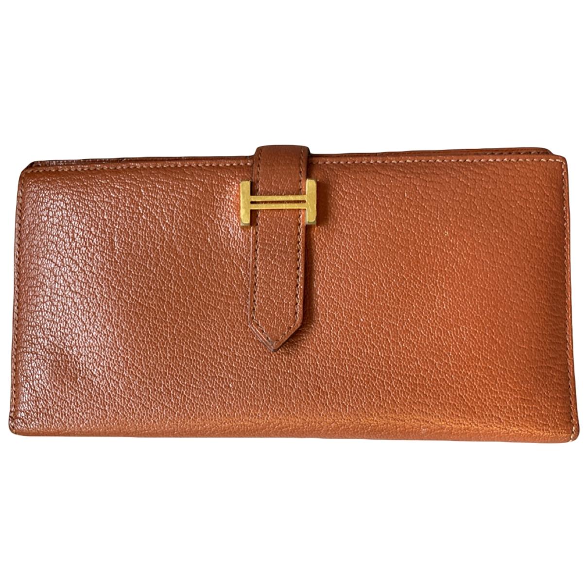 Hermes Bearn Portemonnaie in Leder
