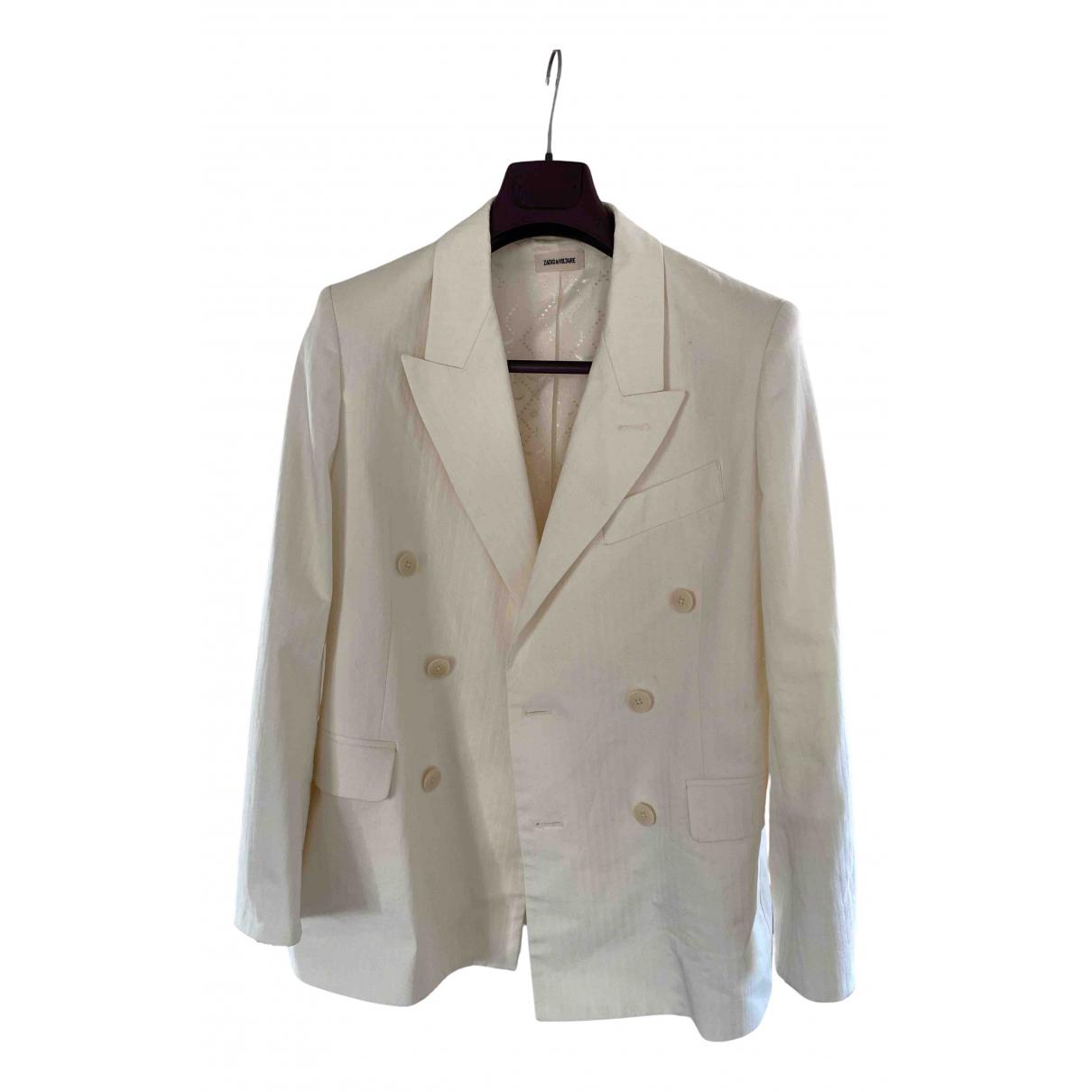 Zadig & Voltaire - Veste Spring Summer 2019 pour femme en coton - blanc
