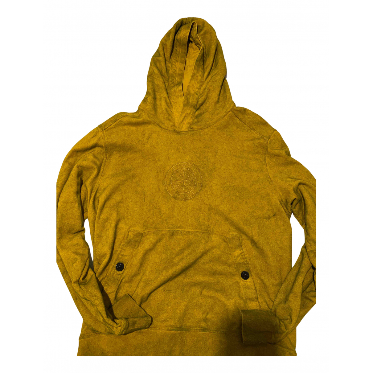 Supreme X Stone Island \N Pullover.Westen.Sweatshirts  in  Gelb Baumwolle