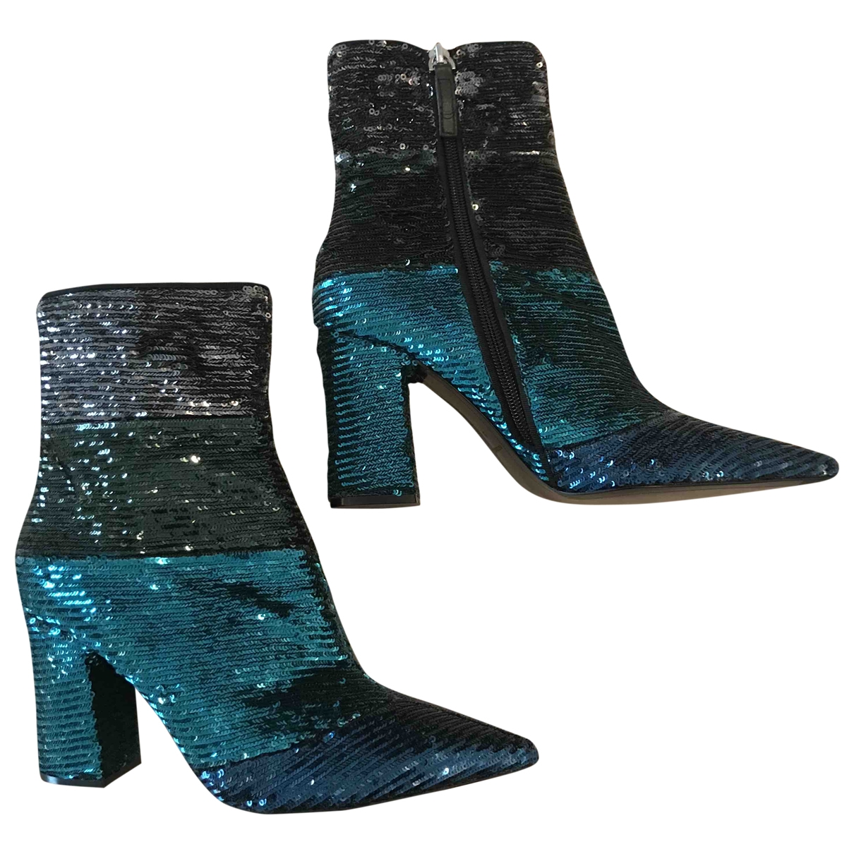 Uterque \N Multicolour Glitter Ankle boots for Women 39 EU