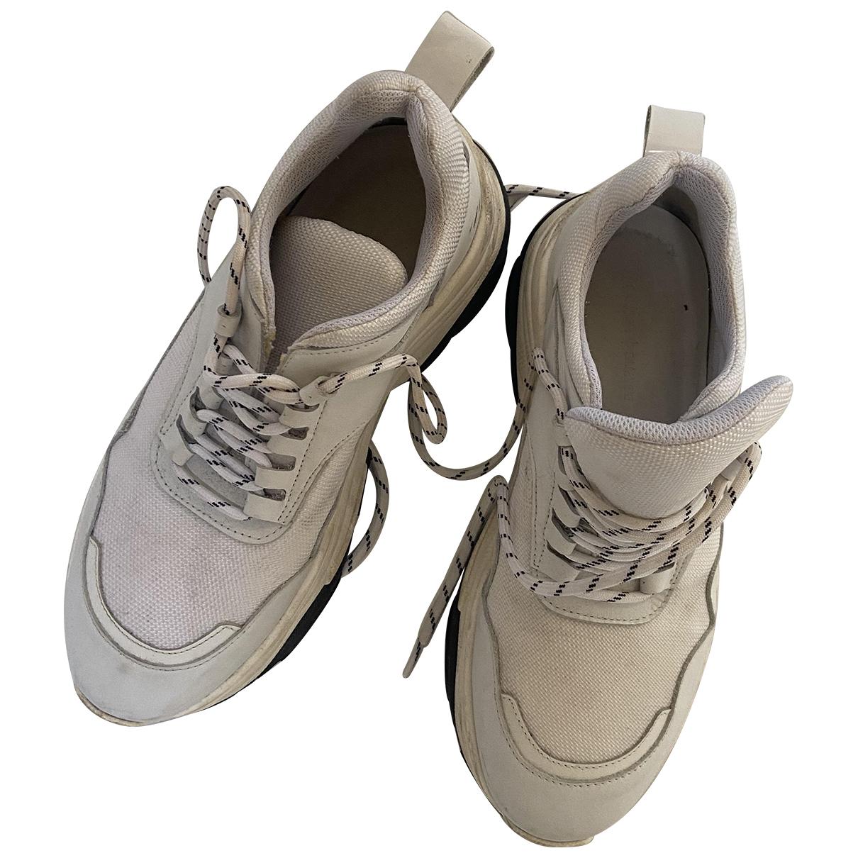 Samsoe & Samsoe \N Sneakers in  Weiss Leinen