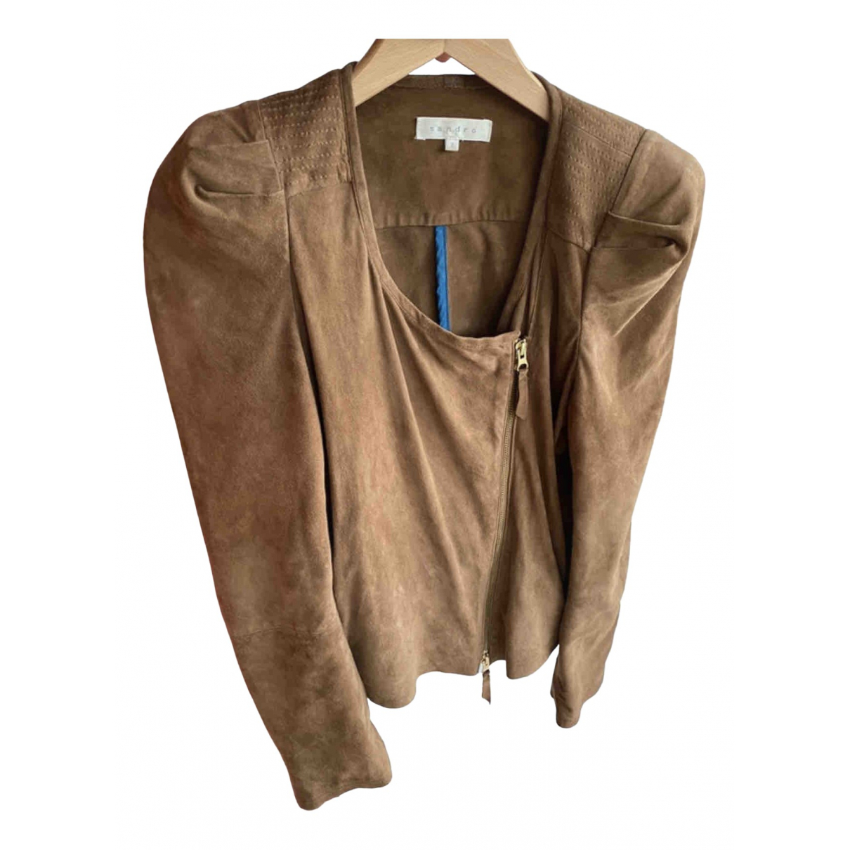 Sandro \N Brown Leather jacket for Women S International