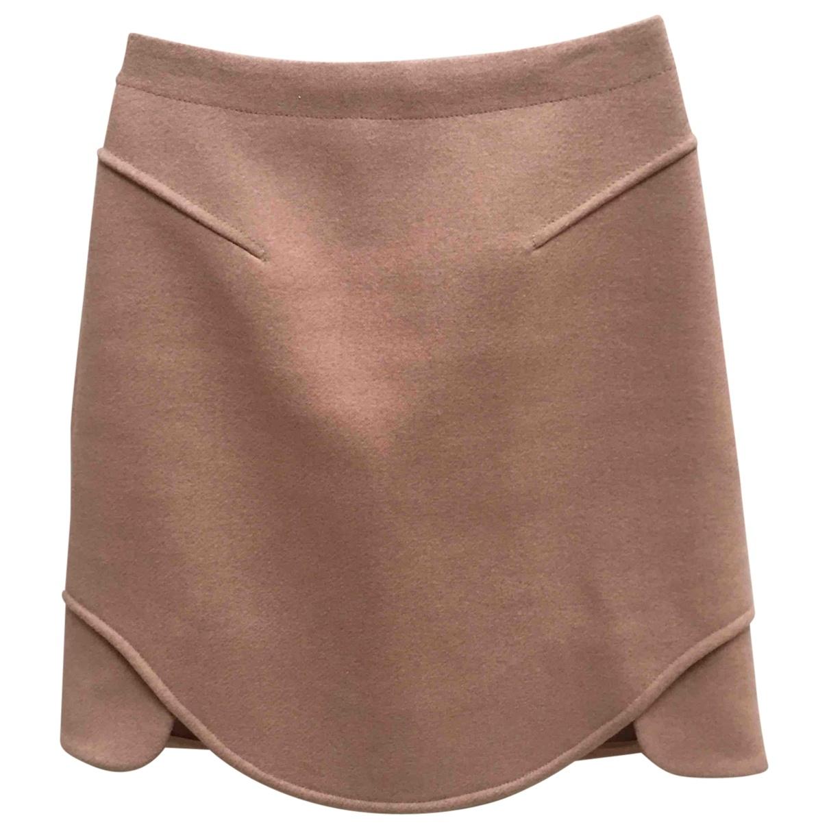 Carven - Jupe   pour femme en laine - beige