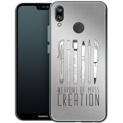 Huawei P20 Lite Silikon Handyhuelle - Weapons Of Mass Creation von Bianca Green