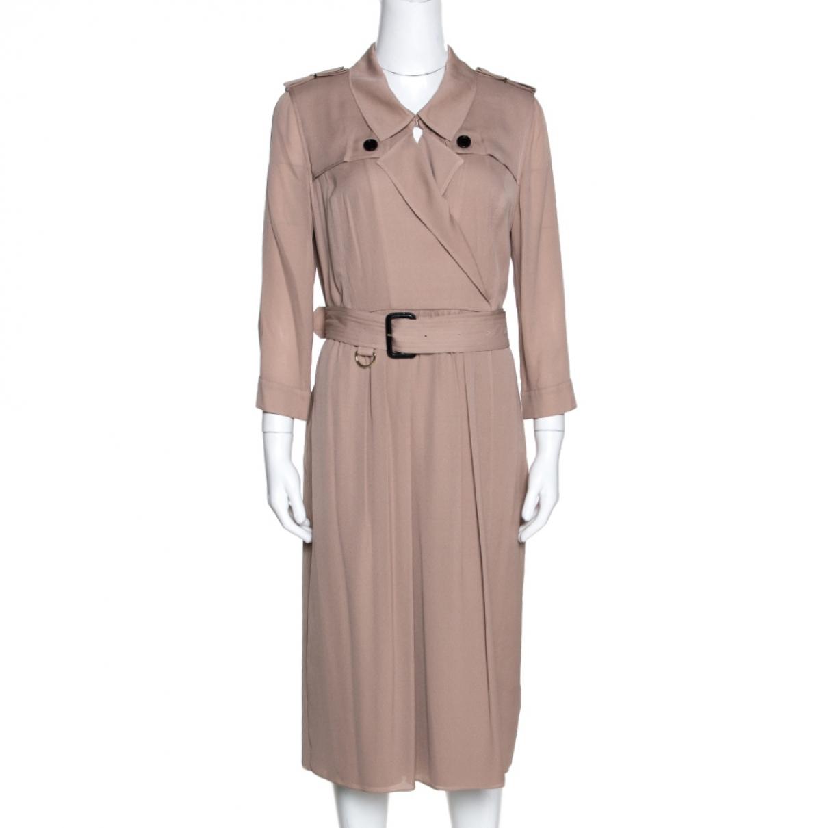 Burberry \N Kleid in  Rosa Seide