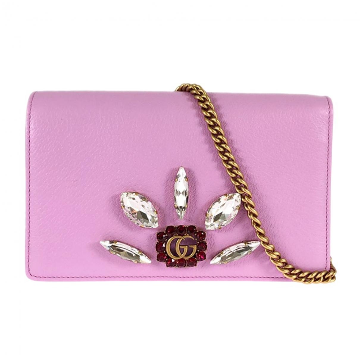 Gucci \N Clutch in  Rosa Leder