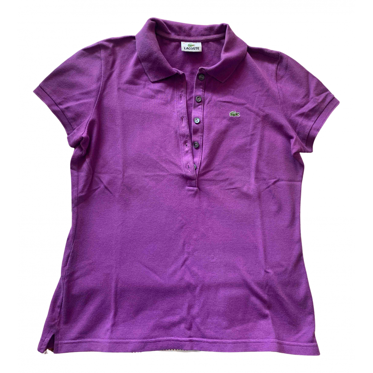 Lacoste \N Purple Cotton  top for Women 42 FR