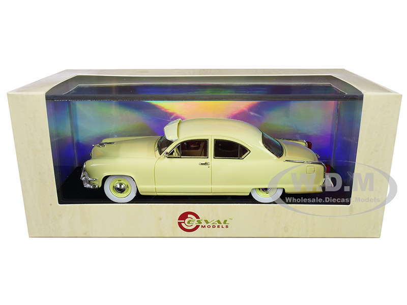 1953 Kaiser Frazer Manhattan 2-Door Sedan Yellow Limited Edition to 250 pieces Worldwide 1/43 Model Car by Esval Models