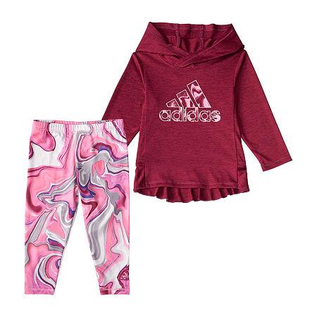 adidas Baby Girls 2-pc. Legging Set, 18 Months , Purple