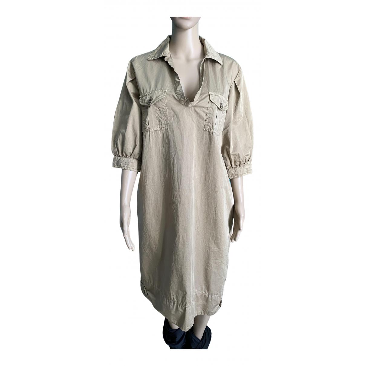 Henry Cotton \N Kleid in  Beige Baumwolle