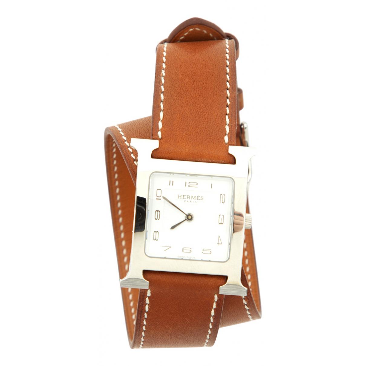 Hermès Heure H Camel Steel watch for Women \N
