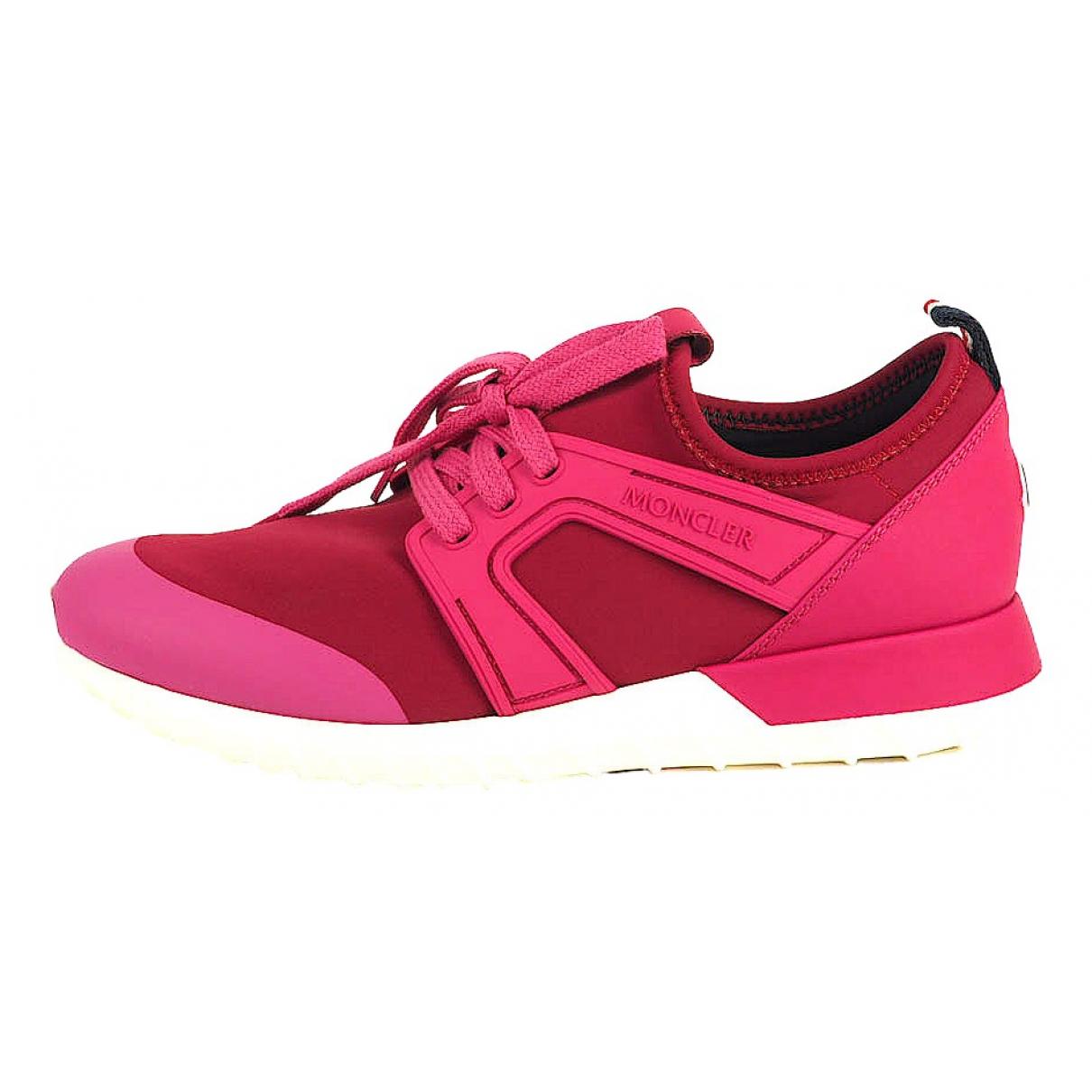 Moncler \N Sneakers in  Rosa Kunststoff