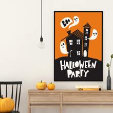 Halloween Pattern Wall Painting Without Frame