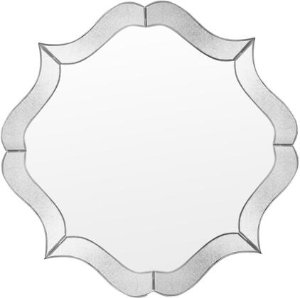 Valencia Collection VL904 Wall Mirror with Antique Mirror Frame and Quatrefoil Shape in Clear Mirror