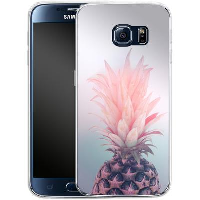 Samsung Galaxy S6 Silikon Handyhuelle - Pastel Pineapple von Emanuela Carratoni