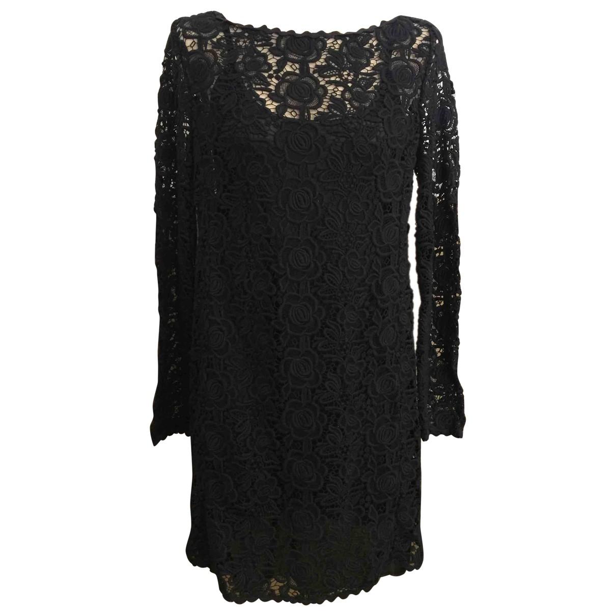 Blumarine \N Kleid in  Schwarz Spitze