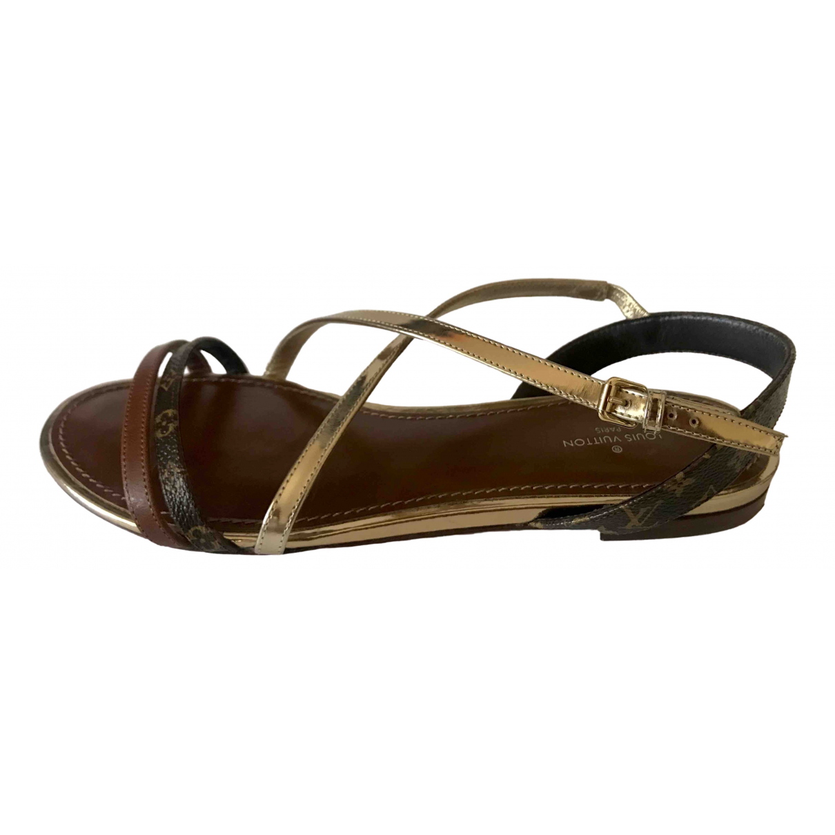Louis Vuitton \N Brown Leather Sandals for Women 38 EU