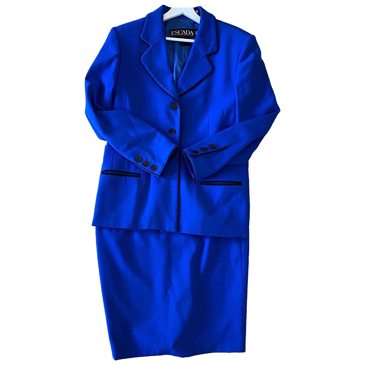 Escada - Veste   pour femme en laine - bleu
