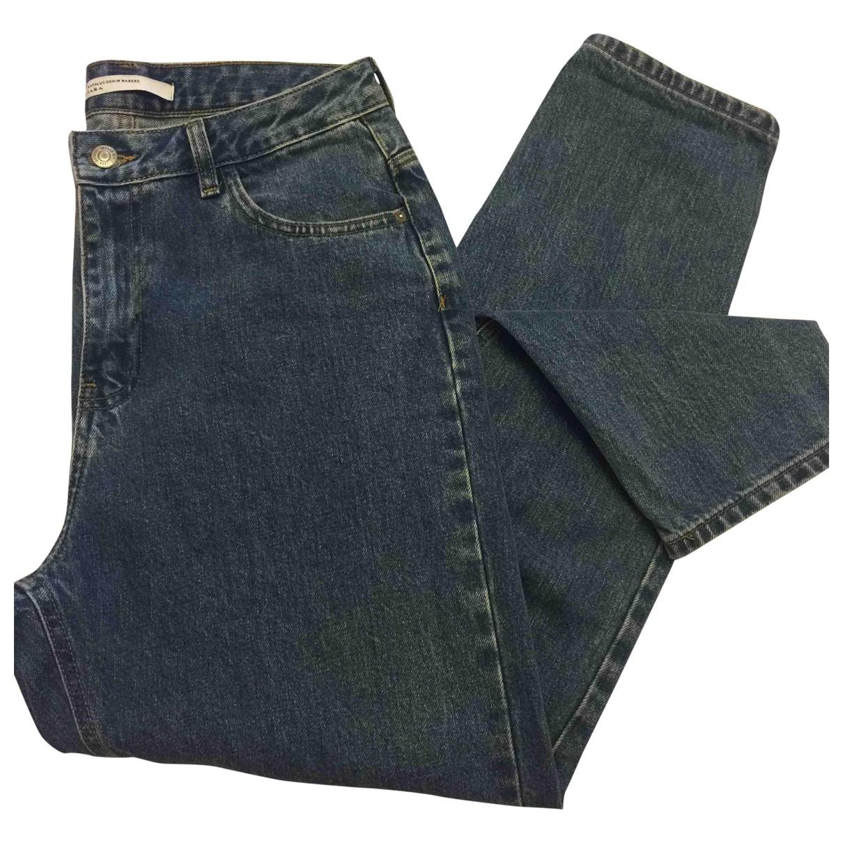 Zara \N Blue Denim - Jeans Trousers for Women 44 IT