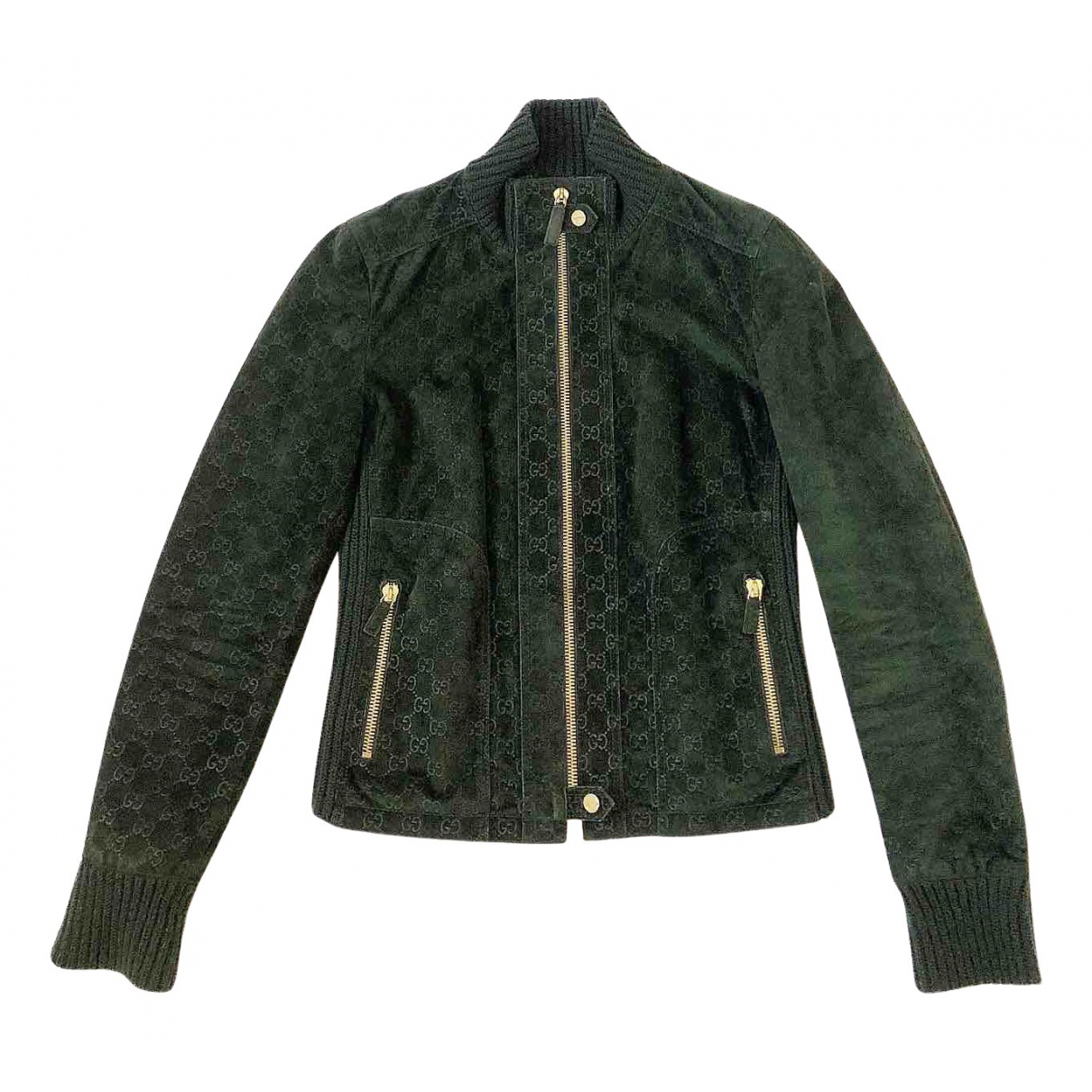 Gucci - Veste   pour femme en suede - vert