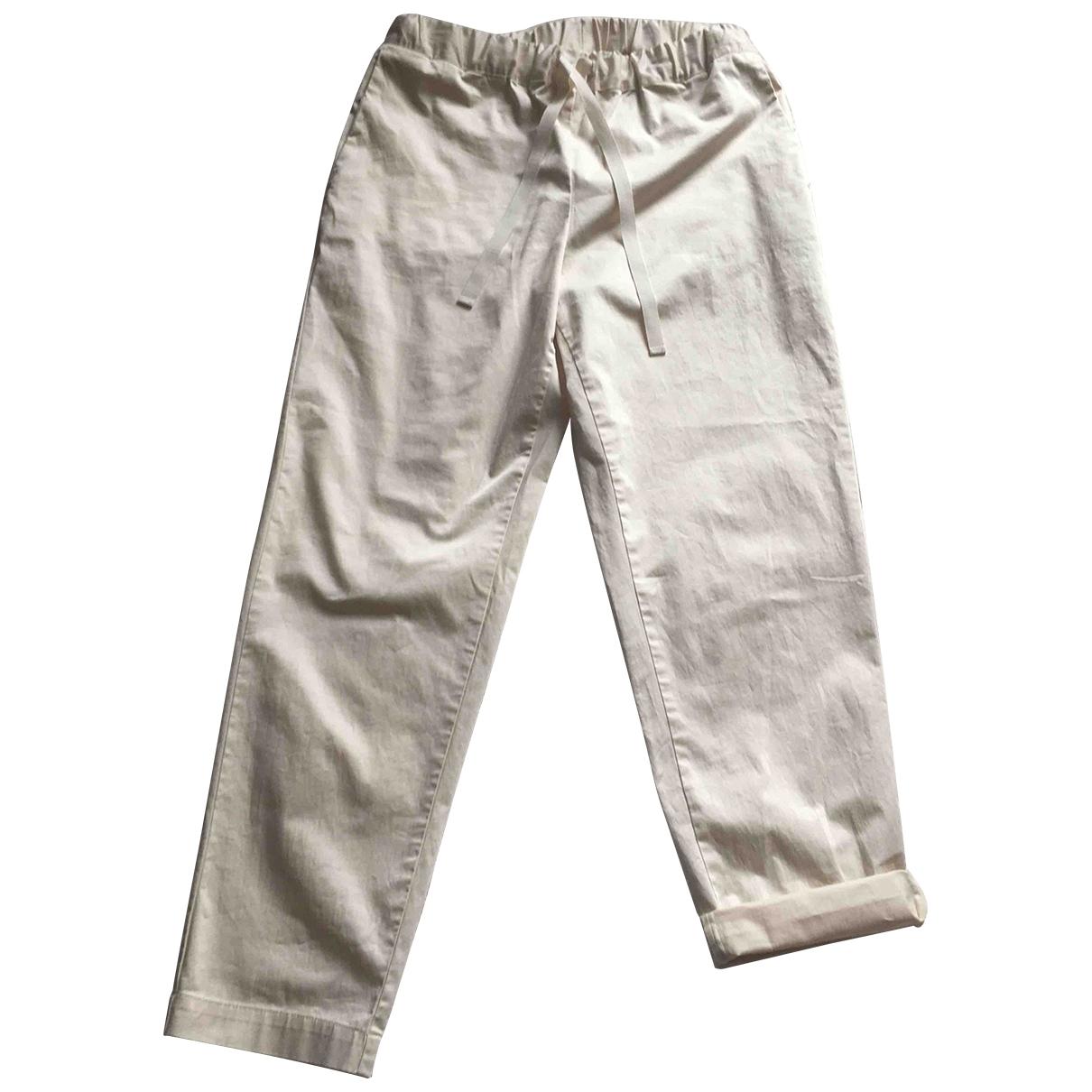 Pantalon en Algodon Crudo Semicouture