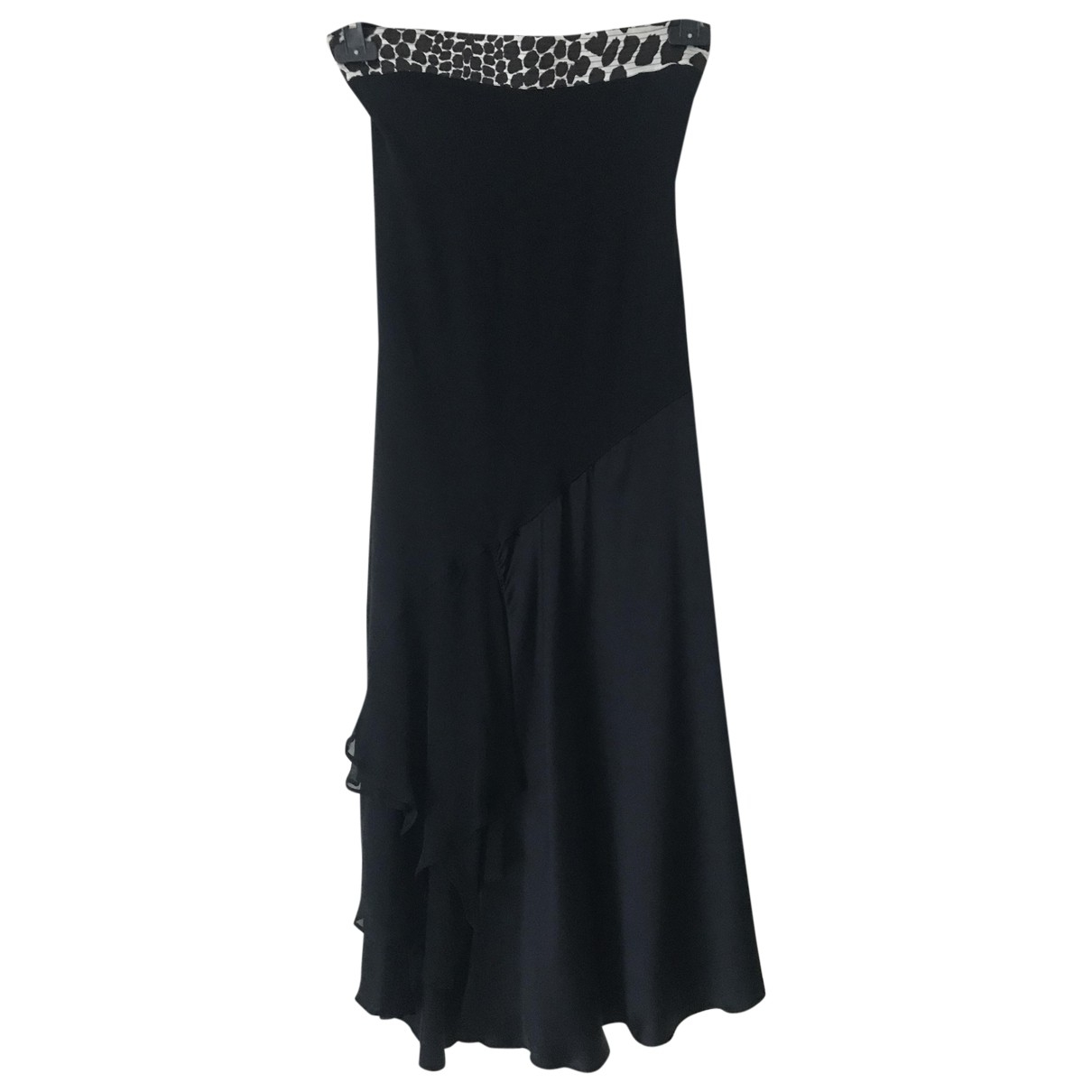Roberto Cavalli \N Black Silk dress for Women 40 IT