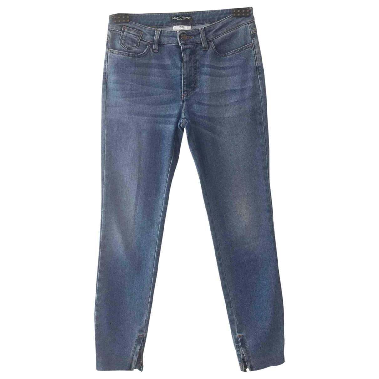 Dolce & Gabbana - Jean   pour femme en coton - bleu