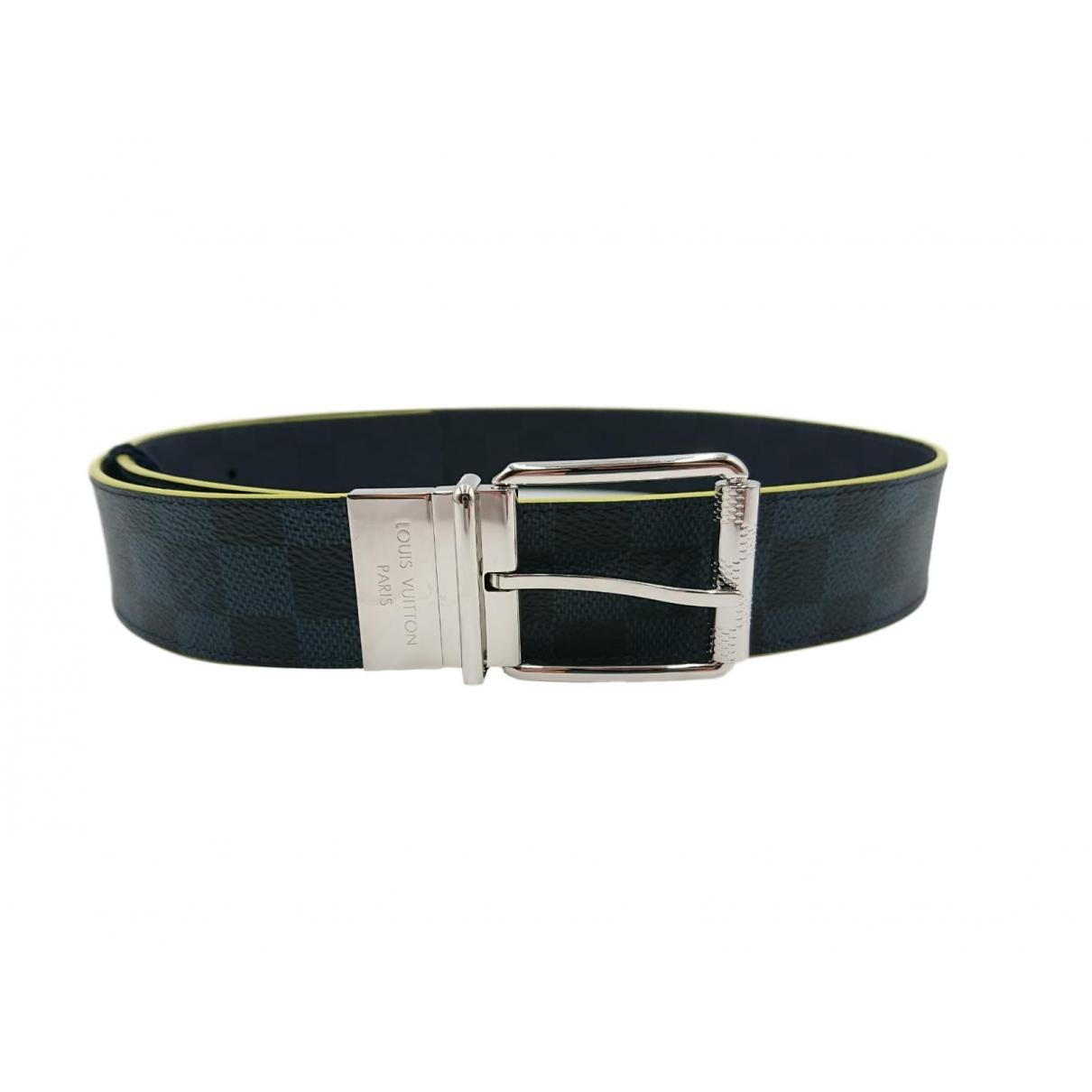 Louis Vuitton \N Navy Cloth belt for Men 90 cm