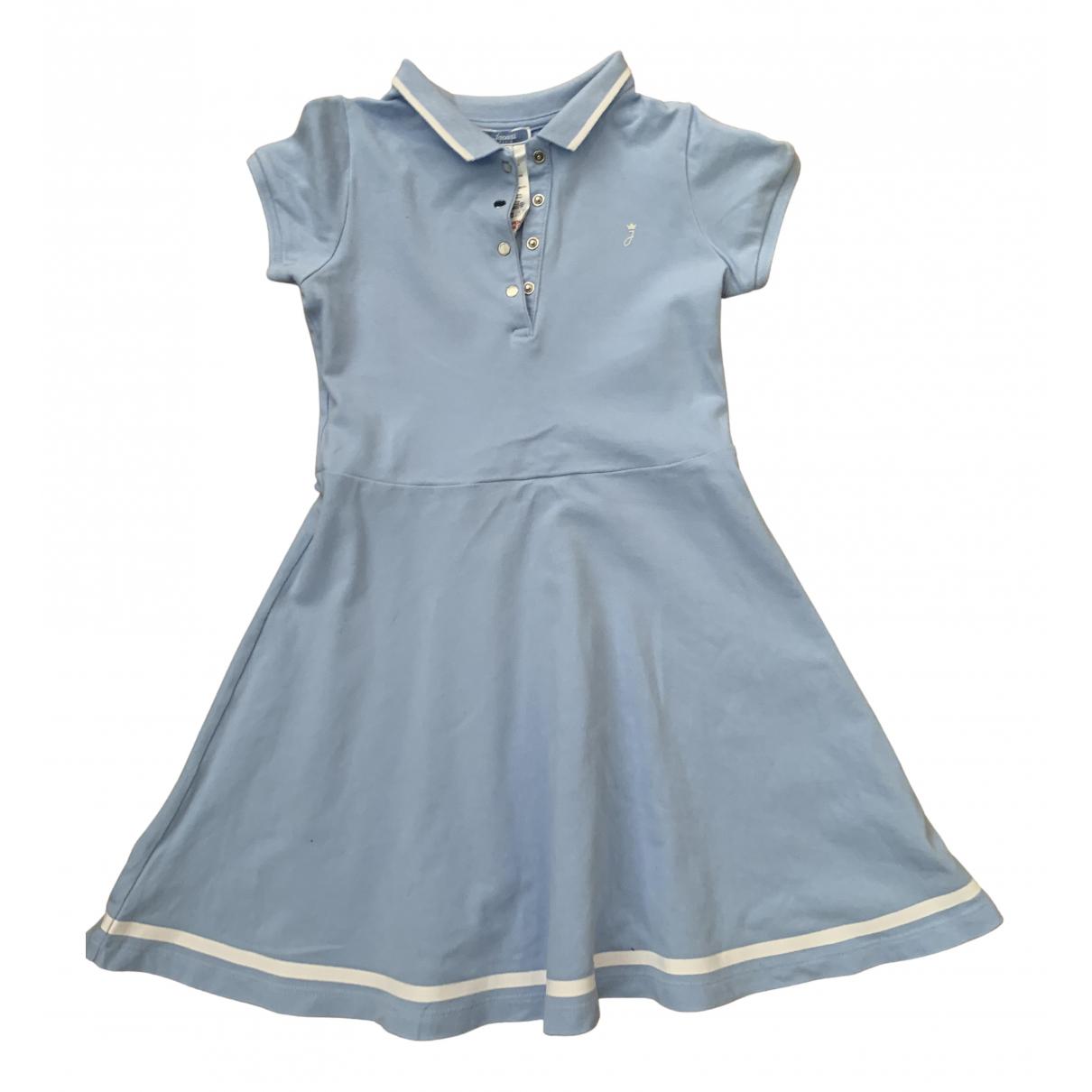 Jacadi - Robe    pour enfant en coton - bleu