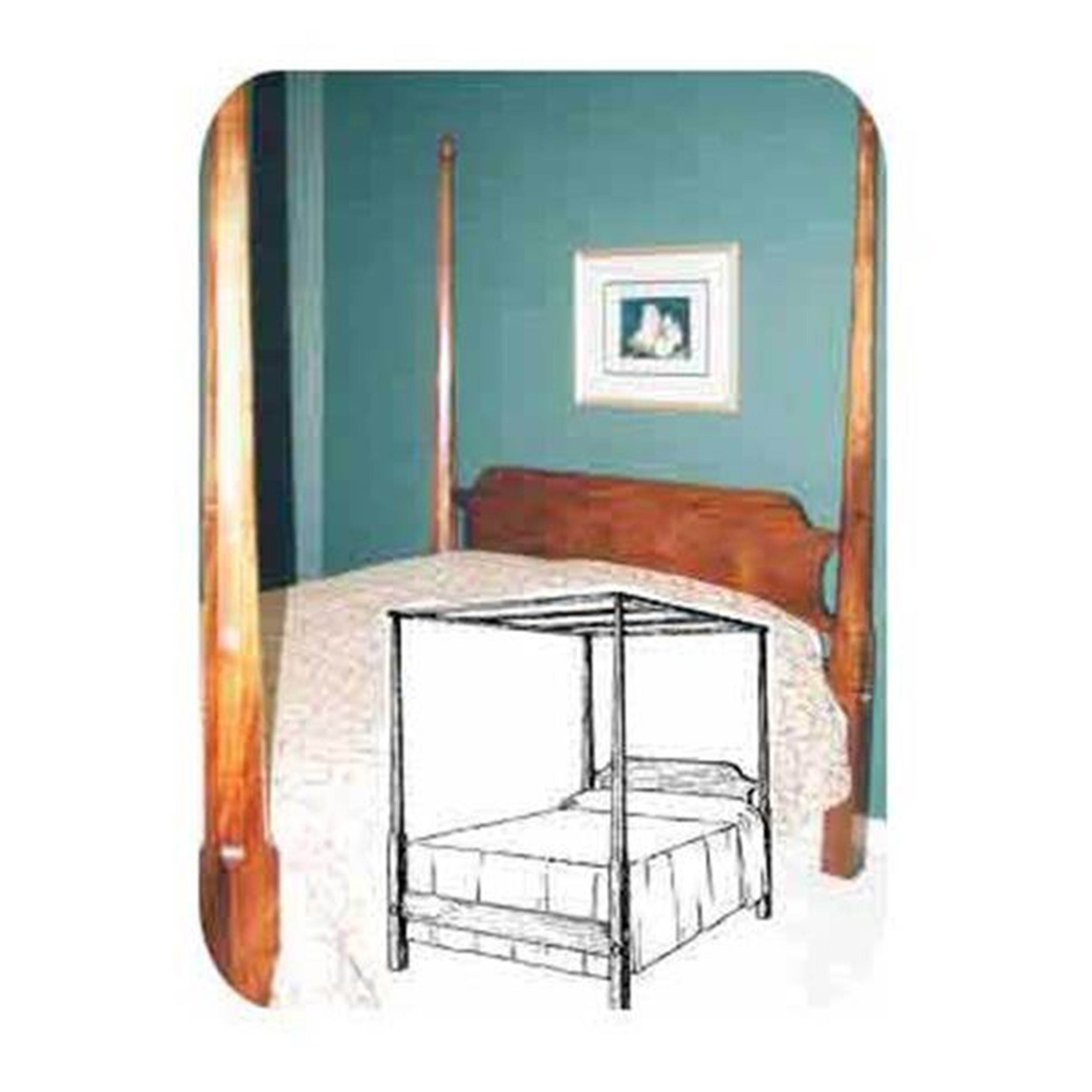 Woodworking Project Paper Plan to Build Pencil Post Canopy Bed