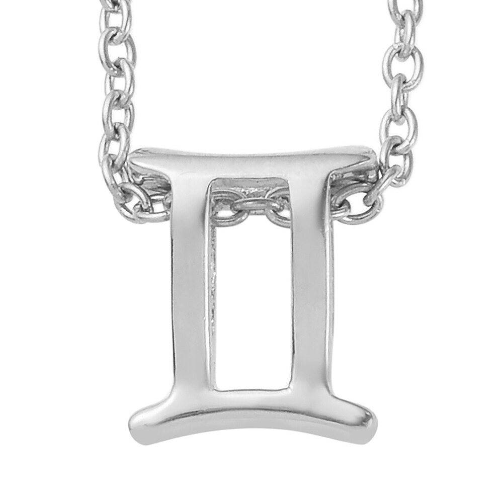 Steel Stainless Steel 925 Sterling Silver Pendant Necklace Size 20 In - Size 20'' (Size 20'')