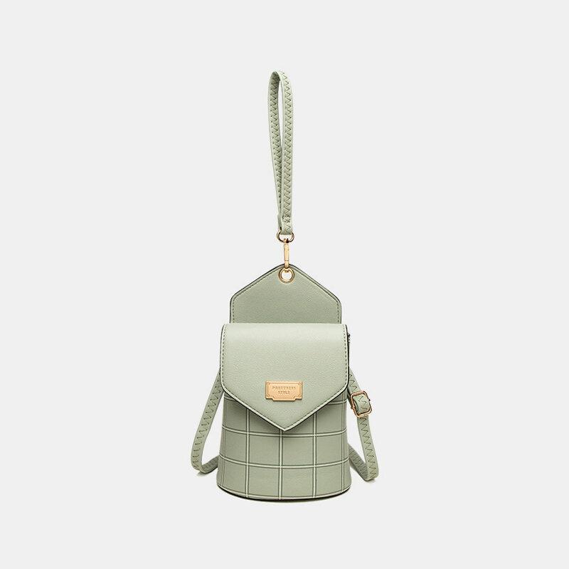 Women 6.3 Inch Phone Plaid Phone Bag Handbag Crossbody Bag