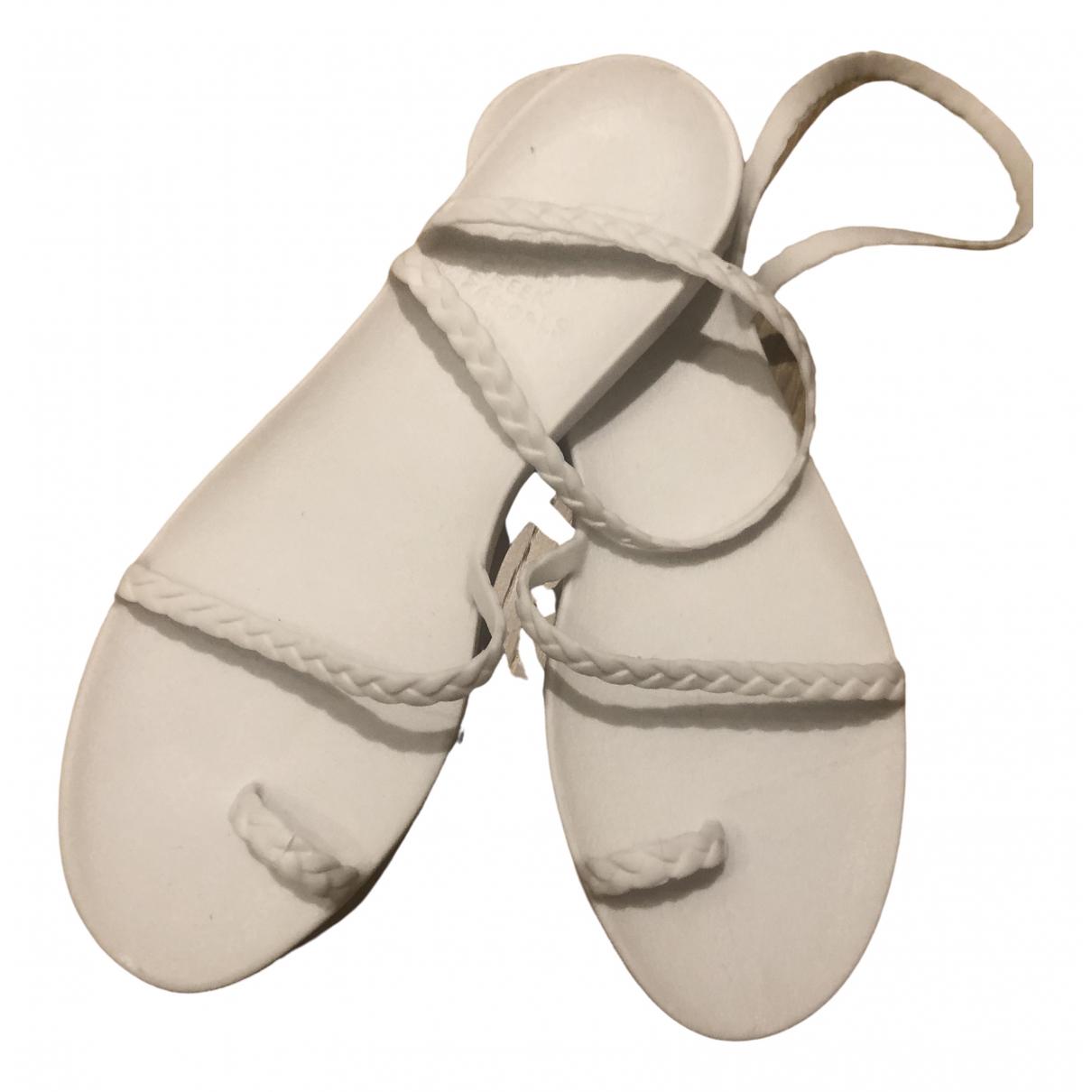 Ancient Greek Sandals \N White Rubber Sandals for Women 41 EU