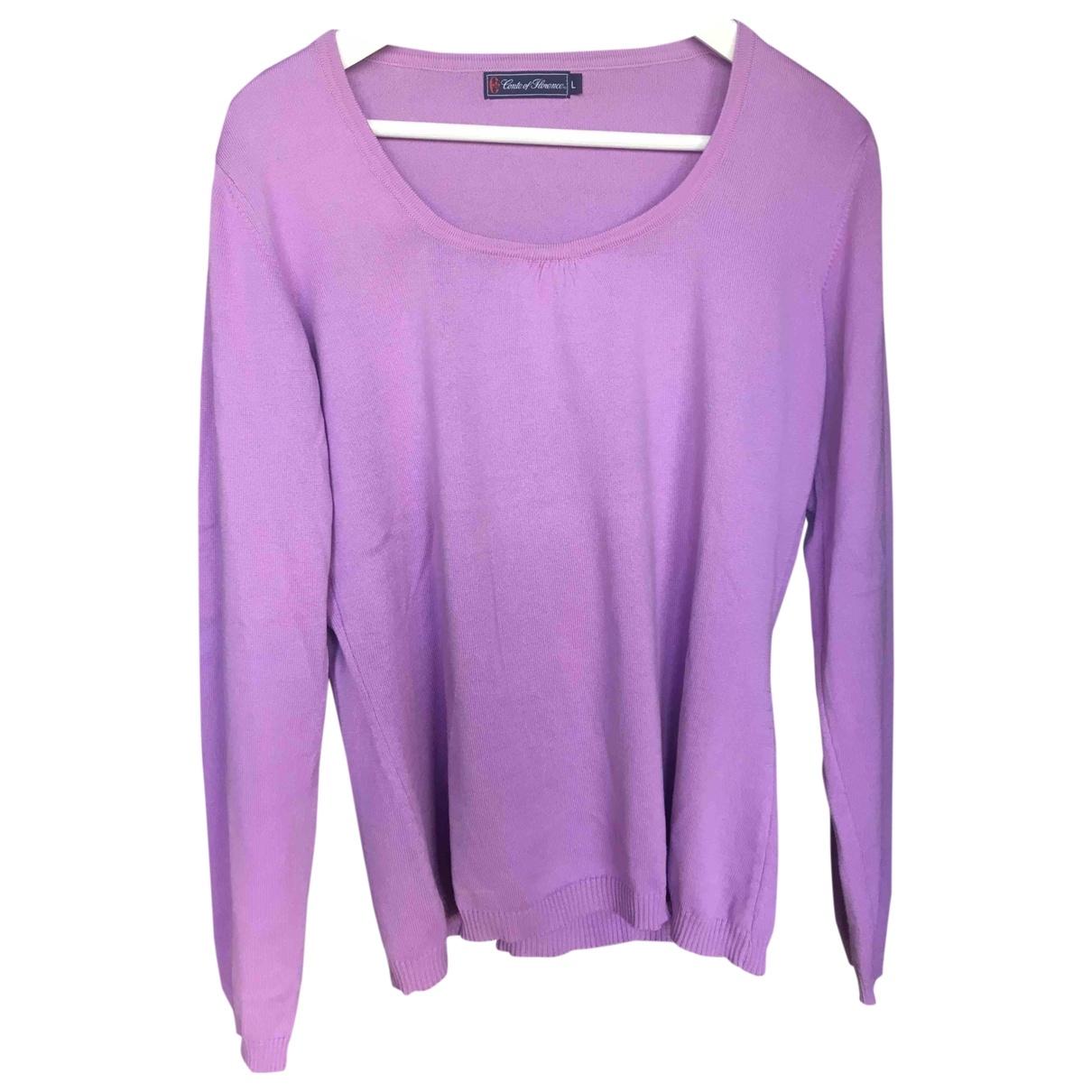 - Pull   pour femme en coton - violet