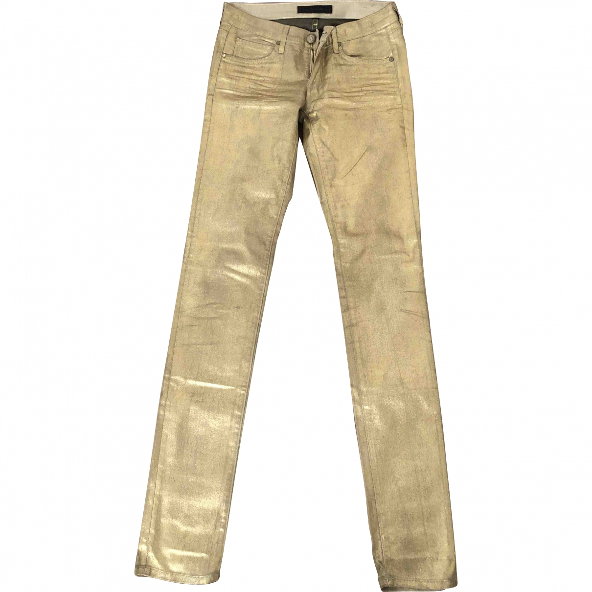 Juicy Couture \N Gold Cotton Trousers for Women S International