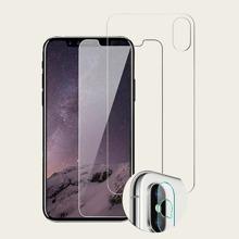 3pcs iPhone Front & Rear & Camera Protective Film