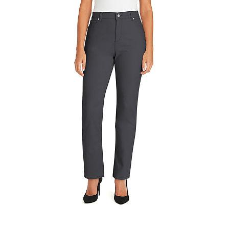 Gloria Vanderbilt Amanda Jeans, 14 Petite Short , Gray