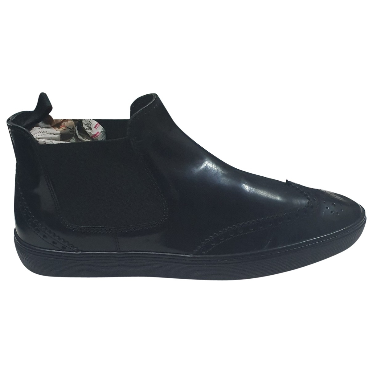 Tod's \N Black Patent leather Boots for Men 9.5 UK