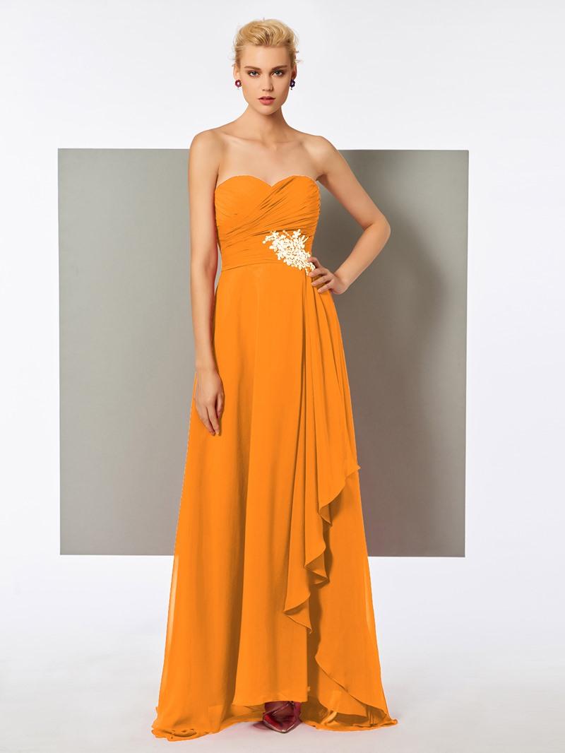 Ericdress A Line Sweetheart Beaded Pleats Long Evening Dress