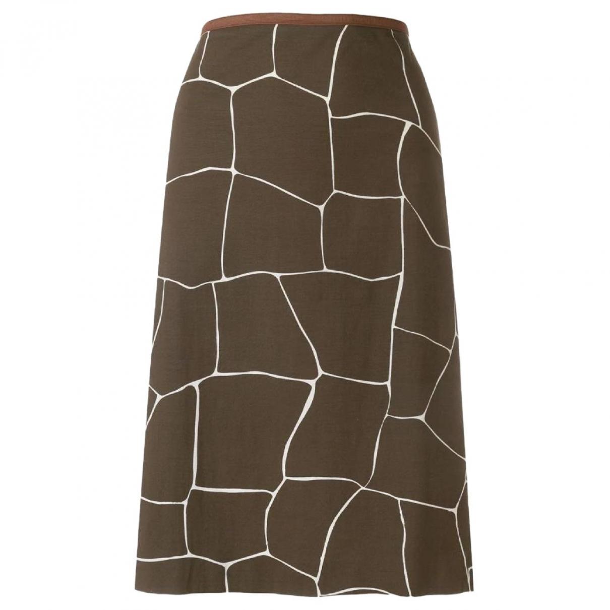 Miu Miu - Jupe   pour femme en coton - marron