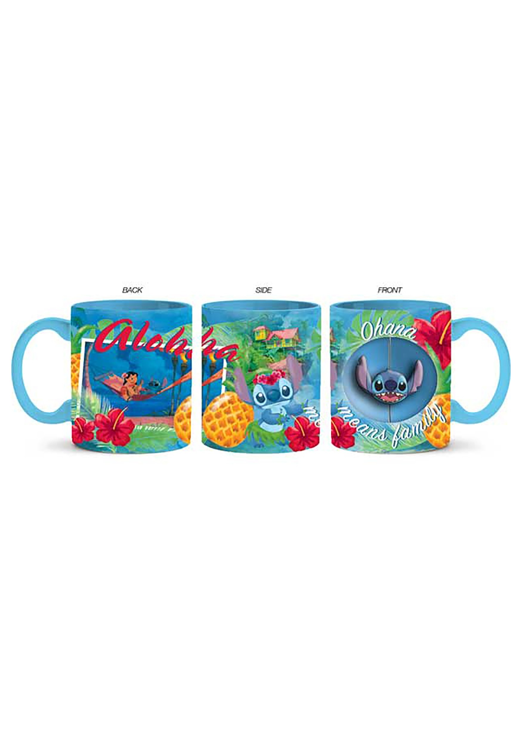 Stitch Jumbo Ceramic 20oz Mug W/Spinner