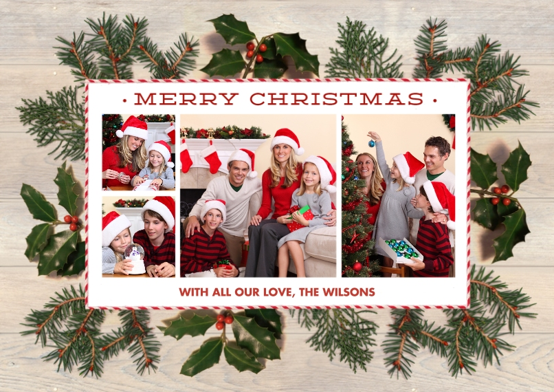 Christmas Photo Cards Flat Matte Photo Paper Cards with Envelopes, 5x7, Card & Stationery -Real Foliage by Foto Crush