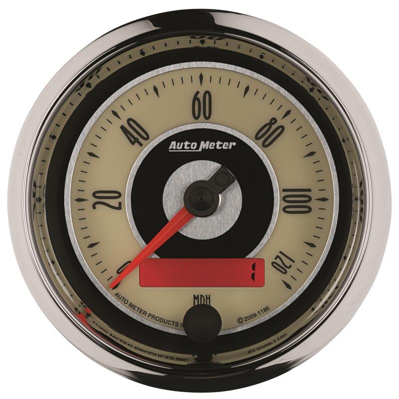 AutoMeter GAUGE; SPEEDOMETER; 3 3/8in.; 120MPH; ELEC. PROGRAMMABLE; CRUISER