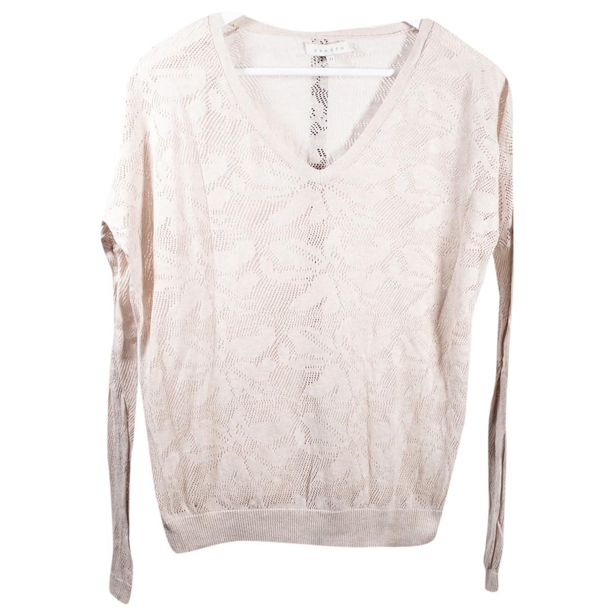 Sandro \N Beige Cotton Knitwear for Women S International