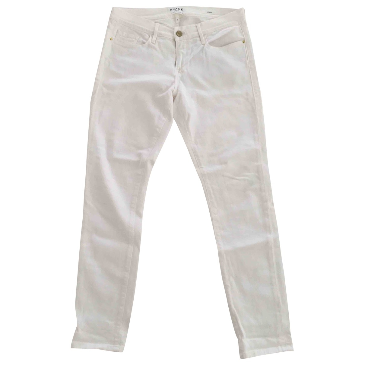 Frame Denim \N White Denim - Jeans Jeans for Women 28 US