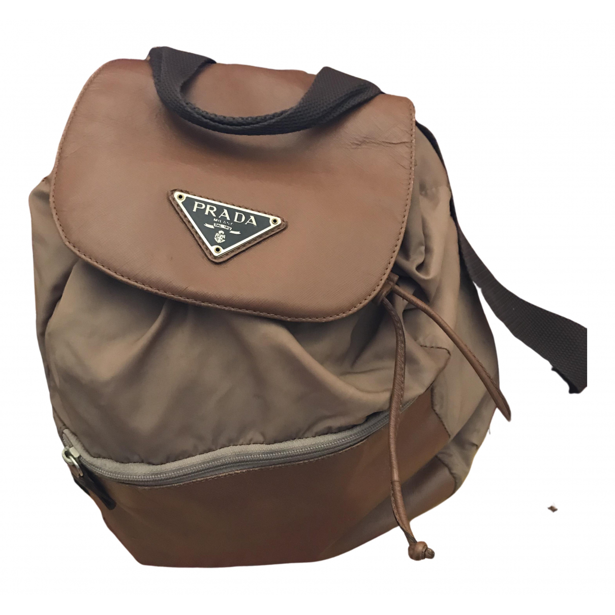 Prada Re-Nylon Camel backpack for Women N
