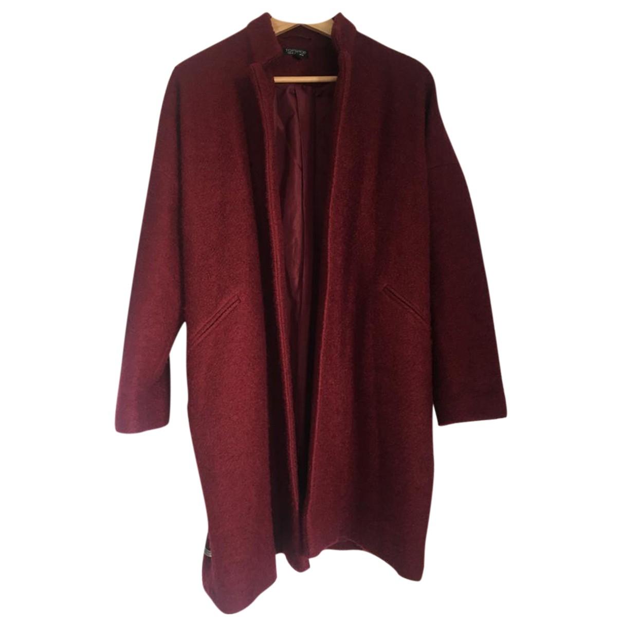 Topshop - Manteau   pour femme - bordeaux