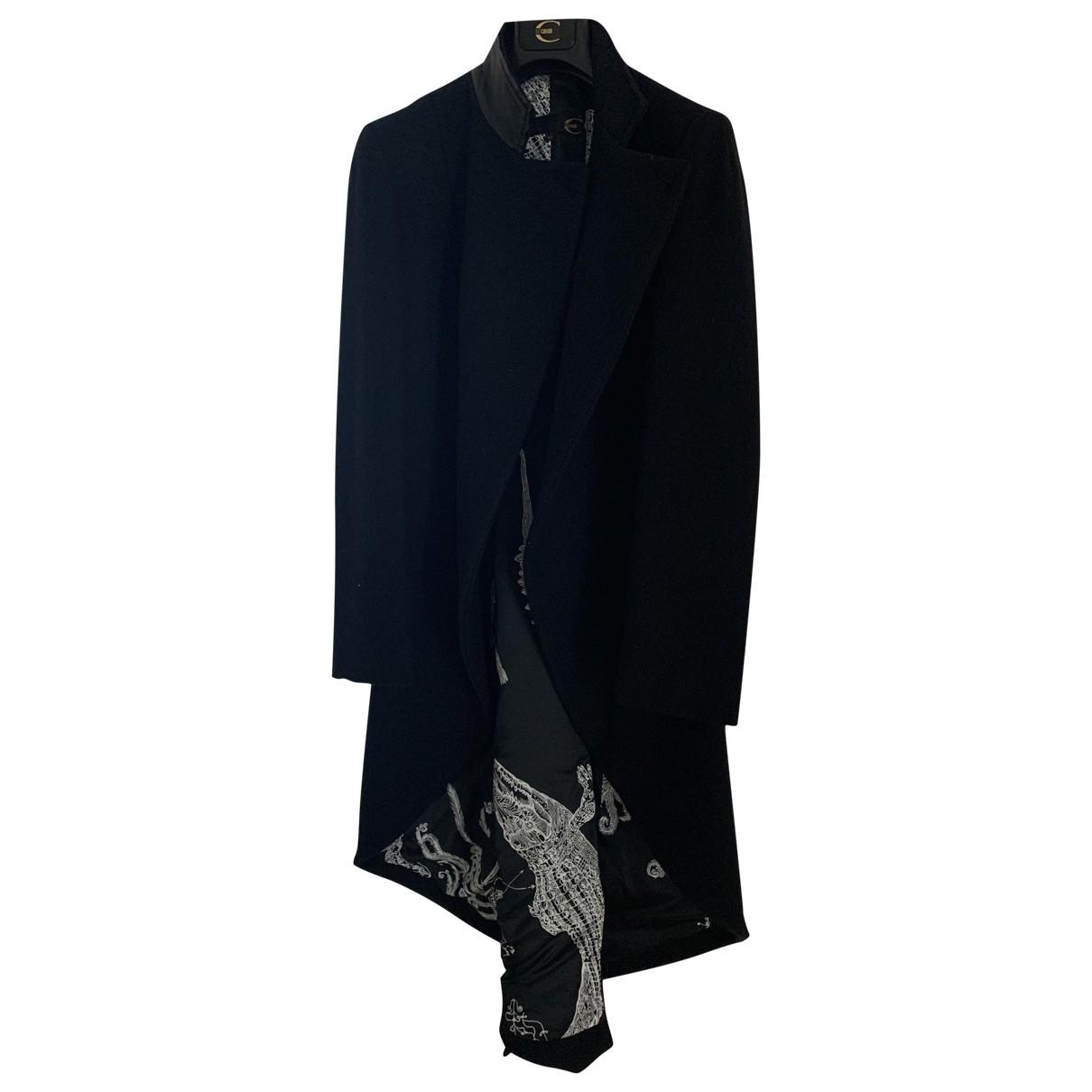 Roberto Cavalli \N Black Wool coat for Women 44 IT
