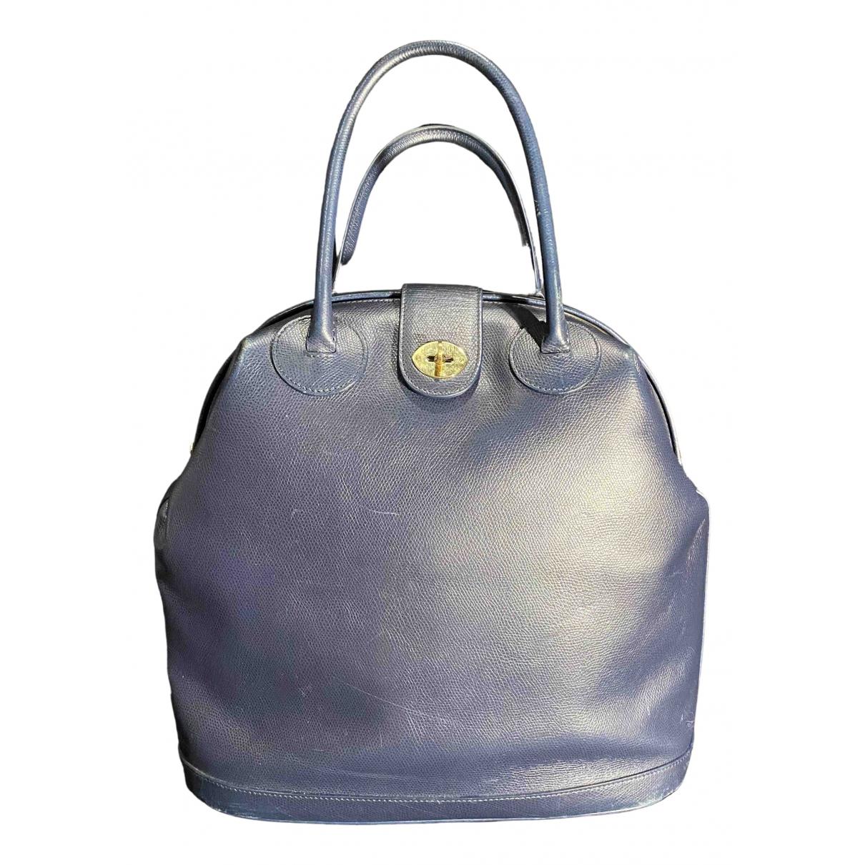 Giorgio Armani \N Blue Leather handbag for Women \N
