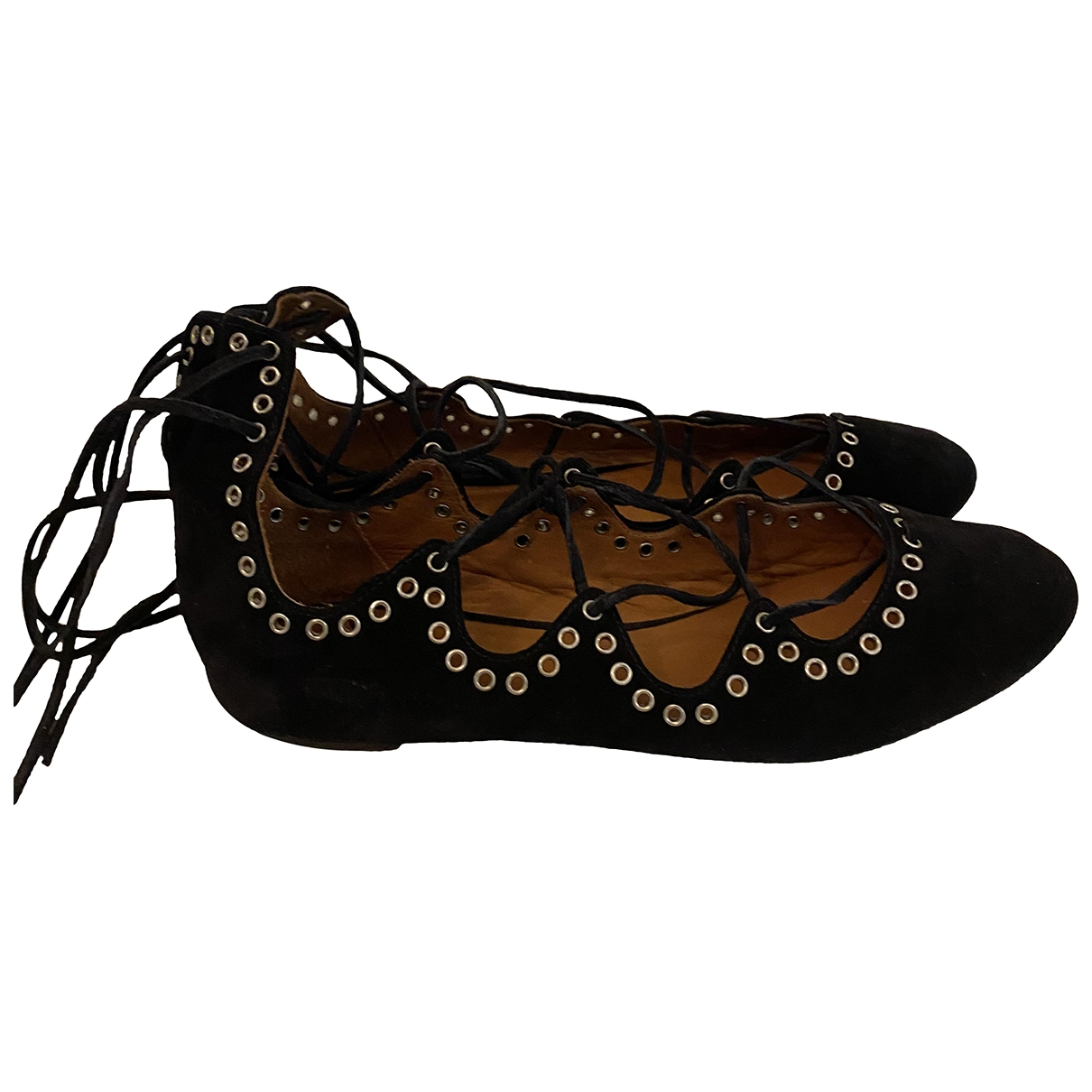 Isabel Marant \N Black Leather Ballet flats for Women 39 EU